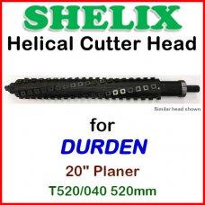 SHELIX for DURDEN 20'' Planer, T520-040 520mm