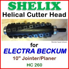 SHELIX for Elektra Beckum 10'' Planer-Jointer Combo, HC 260