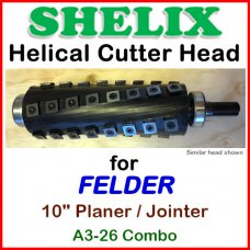SHELIX for FELDER 10'' Jointer, A3-26 COMBO