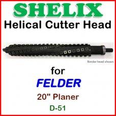 SHELIX for FELDER 20'' Planer, D-51