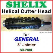 SHELIX for GENERAL 8'' Jointer, 80-200L