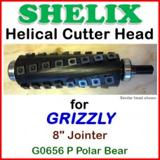 SHELIX for GRIZZLY 8'' Jointer, G0656P Polar Bear