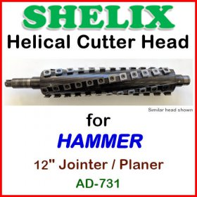 SHELIX for HAMMER 12'' Jointer-Planer COMBO, Model AD-731