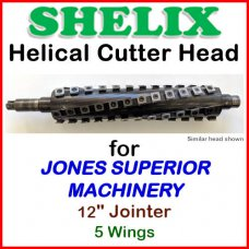SHELIX for JONES SUPERIOR MACHINERY 12'' Jointer, SHELIX with 5 wings