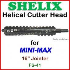 SHELIX for MINI-MAX 16'' Jointer, FS-41 CLASSIC