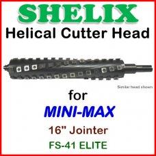 SHELIX for MINI-MAX 16'' Jointer, FS-41 ELITE