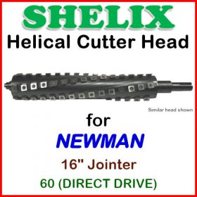 SHELIX for NEWMAN 16'' Jointer, 60 (Direct Drive)
