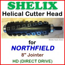 SHELIX for NORTHFIELD 8'' Jointer, HD Direct Drive
