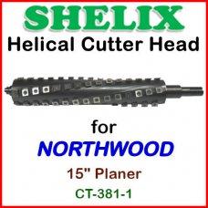 SHELIX for NORTHWOOD 15'' Planer, CT-381-1