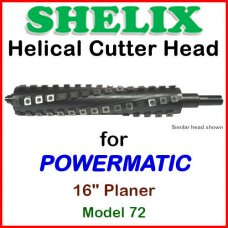 SHELIX for POWERMATIC 16'' Planer, Model 72