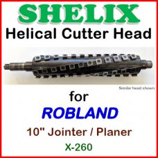 SHELIX for ROBLAND 10'' Jointer, X-260 Jointer-Planer
