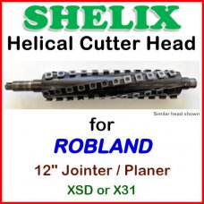 SHELIX for ROBLAND 12'' Jointer, XSD or X31 Jointer-Planer