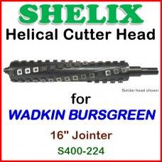 SHELIX for WADKIN BURSGREEN 16'' Jointer, S400-224