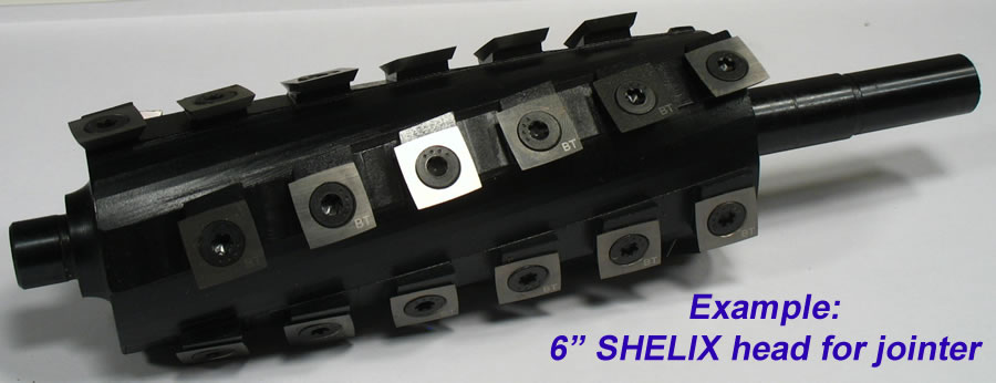 Byrd SHELIX helical spiral cutter head for jointers